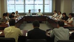 川崎建設業協会と懇談する共産党市議団